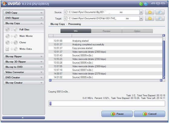 DVDFab Forum - BD50 to BD25 super slow issue